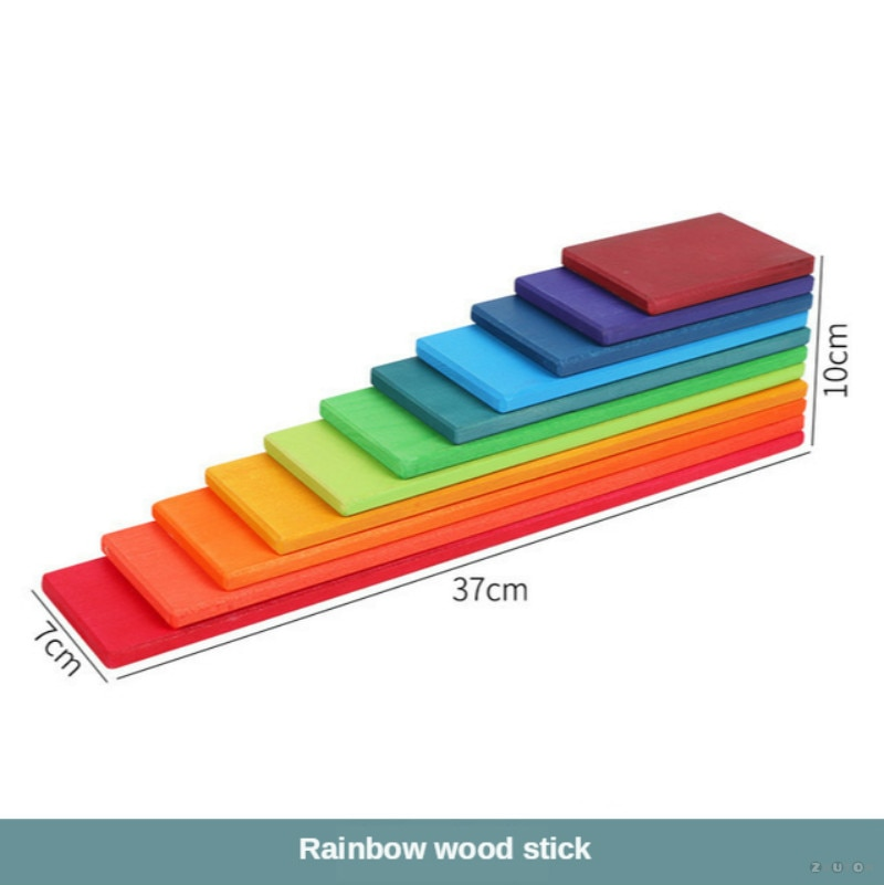 Large Wooden Rainbow Stacker Blocks