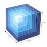 Blue cube 40pcs